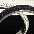 Hesmut bangles - Black and clear crystal